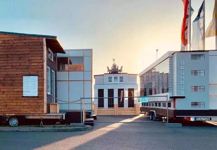 包豪斯大篷车Wohnmaschine在德国展示